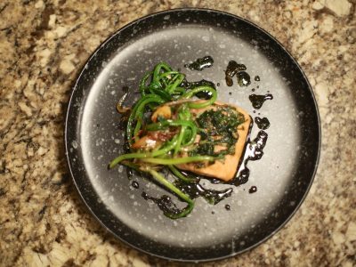 wild ginger glazed steelhead trout