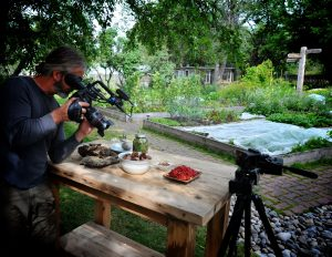 kevin filming fir and buffaloberries